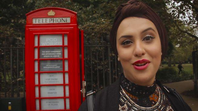 Telefonzelle in London: Kleinster Arbeitsplatz der Welt